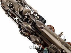 100% New Professional Eb Antique Brushed Silver Surface High F# Alto Saxophone