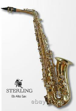 Alto Sax Brand New Quality STERLING Eb Saxophone Case and Accessories