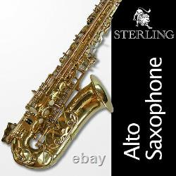 Alto Sax STERLING Eb Saxophone Brand New FREE EXPRESS POST With Case