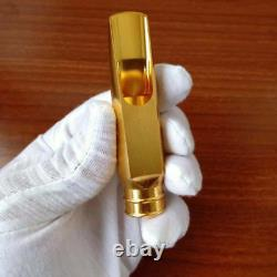 Brush Gold Plated Copper ALTO Saxophone Mouthpiece DURGA buffer # 5-8 withLigature