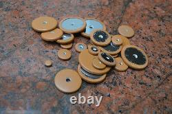 Buescher ALTO SNAP IN Sax Pads, saxophone pads FULL METAL BACK ON LARGER PADS