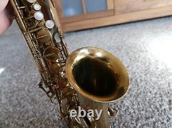 Buescher New Aristocrat Alto Saxophone Plays Well-Good Pads Early Serial Number