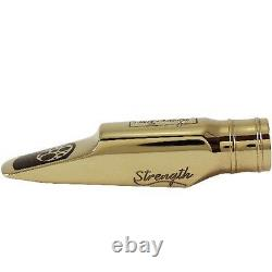 Ever-Ton Strength #7 Metal Gold Plated Alto Sax Mouthpiece Made in Brazil