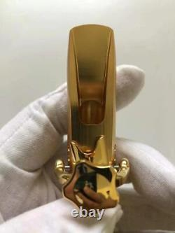 Gold Plated Copper Alto Saxophone Mouthpiece Bullet Shape # 5-8 withLigature NEW