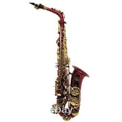 HOLIDAY SALE! Beautiful Red Alto Saxophone w Gold Keys Great GiftLIMITED TIME