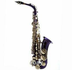 Hawk Colored Student Purple Alto Saxophone with Case, Mouthpiece and Reed