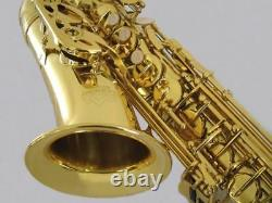 Intermediate ALTO SAXOPHONE GOLD LACQUER Eb Key Shop Adjusted Best Value