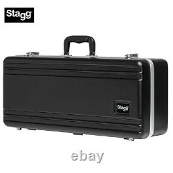 NEW Stagg ABS-AS Rugged Deluxe ABS Hard Shell Carrying Case for Alto Saxophone