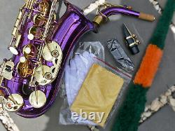 Purple ALTO SAX BRAND NEW Eb STERLING Saxophone With Case Free Express