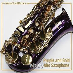 Purple Alto Saxophone, New in Case Suitable for both Professionals & Students