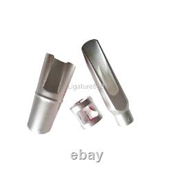 Silver Plated Copper Alto Saxophone Mouthpiece Bullet Buffer Size 5-8 withLigature