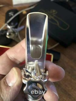 Silver Plated Copper Alto Saxophone Mouthpiece U Shape # 5-8 withLigature 2021 NEW
